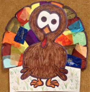 tissue paper turkey story time craft preschool