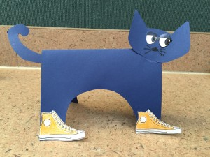 Pete the cat standup story time craft