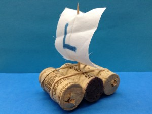cork raft preschool story time craft