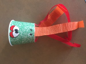 crepe paper dragon story time craft