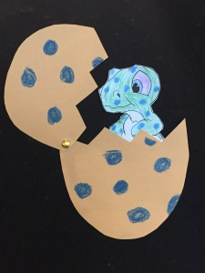 dinosaur egg story time craft