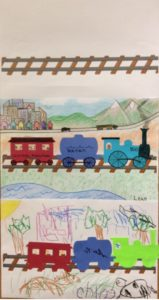 Preschool story time train craft