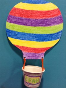 hot air balloon preschool story time craft