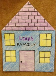 Family house preschool story time craft