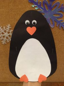 penguin puppet preschool story time craft