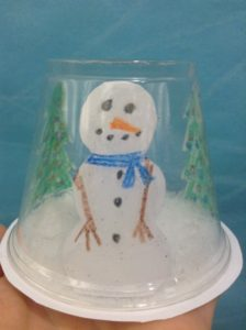 snow globe preschool story time craft