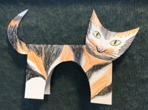 paper cat preschool story time craft