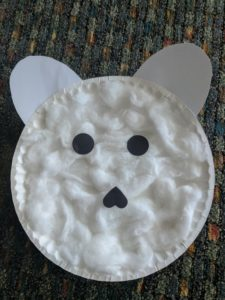 polar bear face craft