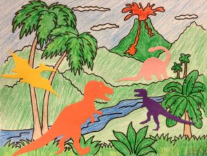 dinosaur preschool story time craft