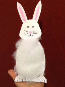 preschool story time bunny hand puppet
