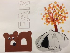 B is for Bear preschool story time craft