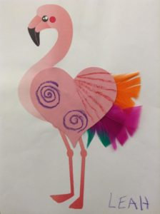flamingo preschool story time craft